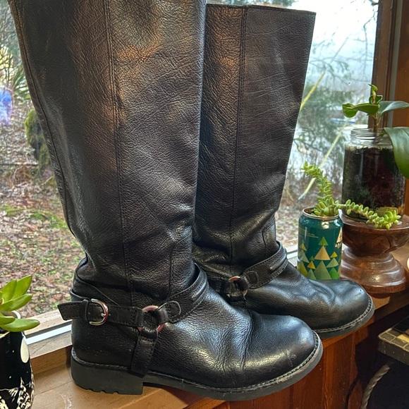 Coach Black Boots 8.5